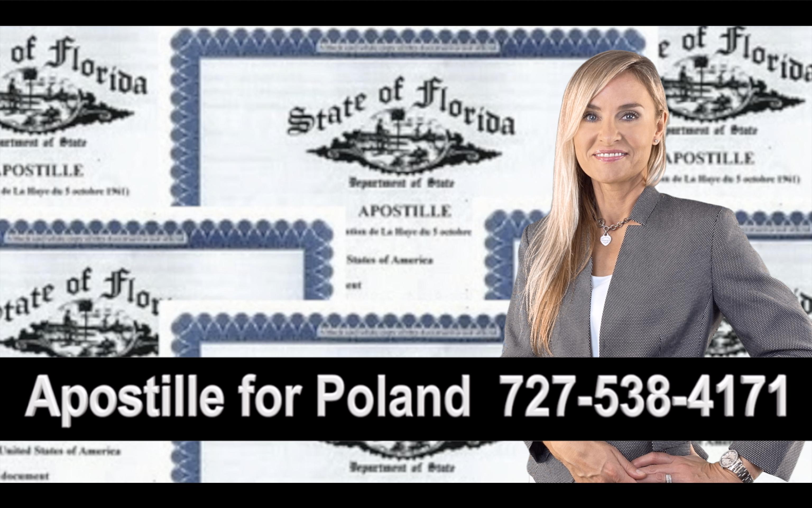 Florida Apostille, Notary, Polish, Polski, Notariusz, Pełnomocnictwo, Power of Attorney, Agnieszka Piasecka, Aga Piasecka